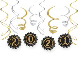 2021 New Year's Fan and Swirl Decorating Kit
