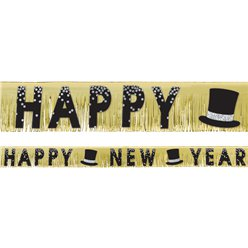 New Year's Foil Fringe Banner