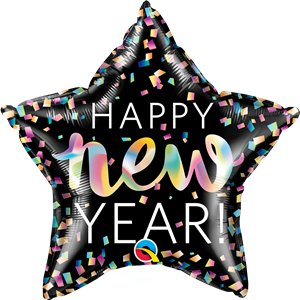 Happy New Year Neon Iridescent Star - 20