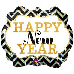 "Happy New Year Marquee - 34"" SuperShape Foil"