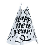 "Silver Foil ""Happy New Year!"" Hat - 23cm Tall"