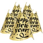New Year Gold Cone Party Hat Kit