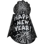 "Black ""Happy New Year!"" Hat"