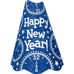 "Blue Glitter ""Happy New Year"" Hat"