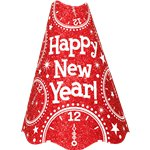 "Red Glitter ""Happy New Year"" Hat"