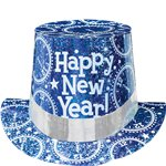 "Blue Prismatic ""Happy New Year!"" Top Hat"