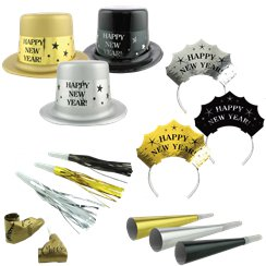 Metallic New Year Party Kit for 20 People