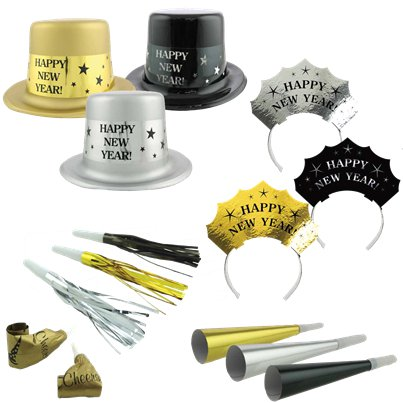f3121a3b7b55e Metallic New Year Party Kit for 20 People