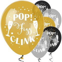 Pop Fizz Clink Balloons - 11 Latex