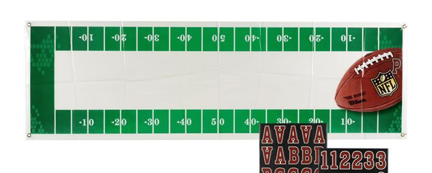 Giant NFL Personalised Banner - 1.65m