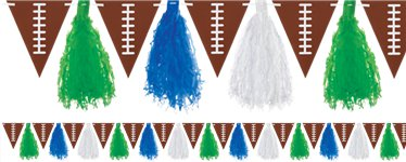 Football Tassel Garland Bunting - 3m