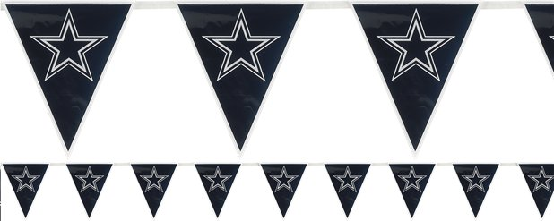 NFL Dallas Cowboys Plastic Flag Bunting 3.6m
