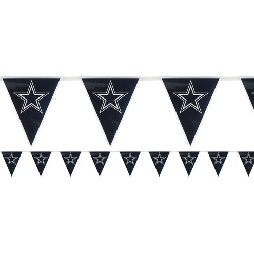 88296315 NFL Dallas Cowboys Plastic Flag Bunting 3.6m | Party Delights