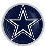 NFL Dallas Cowboys Plates - 23cm Paper Party Plates
