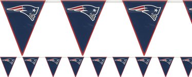 NFL New England Patriots Plastic Flag Bunting 3.6m