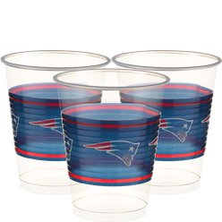 NFL New England Patriots Cups - 473ml Plastic Party Cups
