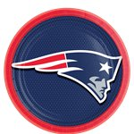 NFL New England Patriots Plates - 23cm Paper Party Plates