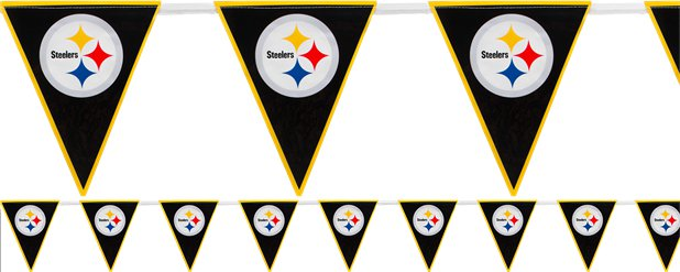 NFL Pittsburgh Steelers Plastic Flag Bunting 3.6m