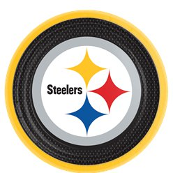NFL Pittsburgh Steelers Plates - 23cm Paper Party Plates