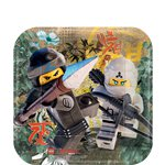 Lego Ninjago - 18cm Square Paper Party Plates