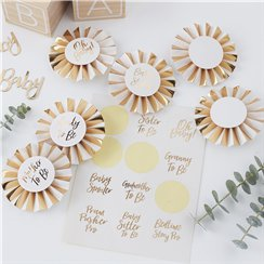 Oh Baby Baby Shower Badge Kit