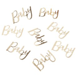 Oh Baby Gold 'Baby' Table Confetti - 14g Bag