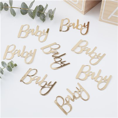 "Oh Baby - Gold ""Baby""Confetti"