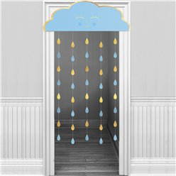 Oh Baby Blue Cloud Door Curtain