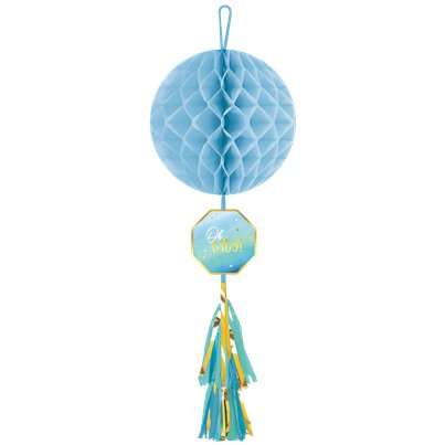 Oh Baby Blue Honeycomb Tassel Tail Decoration