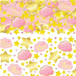 Oh Baby Pink Foil Confetti - 70g