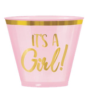 Oh Baby Pink Plastic Tumblers