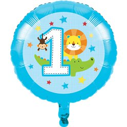 One is Fun Boy Foil Balloon - 17