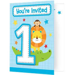 One is Fun Boy Invitations