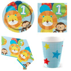 One is Fun Blue Party Pack - Value Pack For 8
