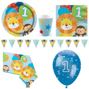 One is Fun Blue Party Pack - Deluxe Pack for 8