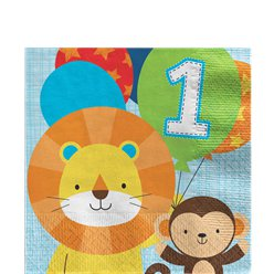 One is Fun Boy Luncheon Napkins - 33cm