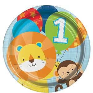 One is Fun Boy Dinner Plates - 23cm