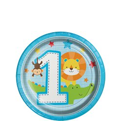 One is Fun Boy Lunch Party Plates - 18cm