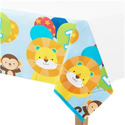 One is Fun Boy Plastic Tablecover - 137 x 259cm