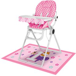 One Is Fun Girl High Chair Kit
