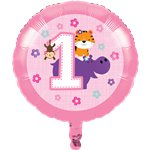 One is Fun Girl Foil Balloon - 17""
