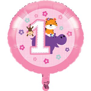 One is Fun Girl Foil Balloon - 17