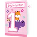 One is Fun Girl Invitations - Party Invitation Cards