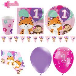 One is Fun Pink Party Pack - Deluxe Pack for 16