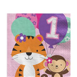 One is Fun Girl Luncheon Napkins - 33cm