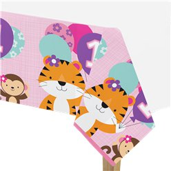 One is Fun Girl Plastic Tablecover - 1.2m x 2.4m