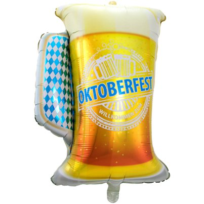 "Oktoberfest Beer Glass Balloon - 31"" Foil"