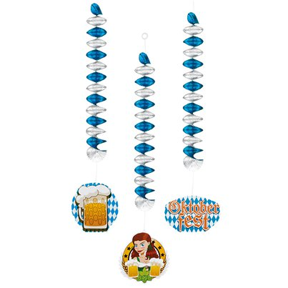 Oktoberfest Hanging Spiral Decorations - 60cm