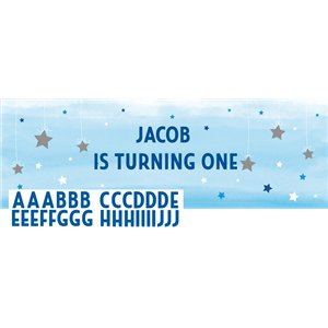 One Little Star Boy Giant Personalisable Banner - 1.5m