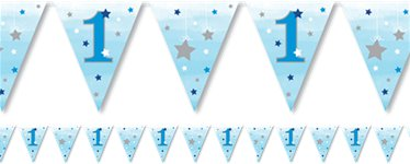 One Little Star Boy Paper Bunting- 4m